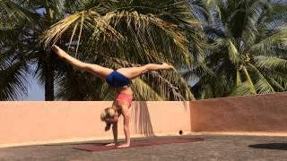Yoga Handstand Splits, Just for Fun with Kino