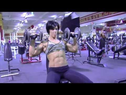 Dana Linn Bailey Training At Las Vegas Golds Gym