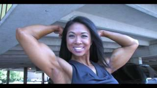 Asian Fitness Hottie Flexing And Posing Her Wonderful Muscles