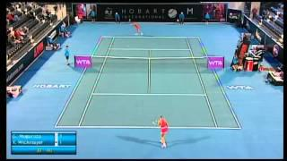 Garbine Muguruza vs Janina Wickmayer, Hobart International 2014 - Match Highlights