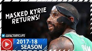 Masked Kyrie Irving RETURNS, Full Highlights vs Nets (2017.11.14) - 25 Pts, MVP Chants!
