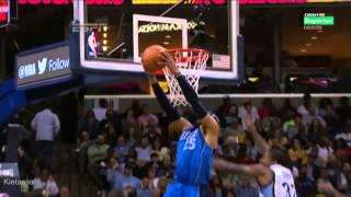 Vince Carter 2  nice dunks on the Grizzlies (2014.04.16)