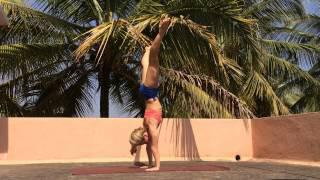 Straddle Handstand Press with Kino Yoga