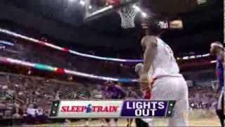Quincy Acy vicious dunk on Gortat (2014.02.09)