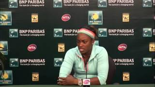BNP Paribas Open: Sloane Stephens Fourth Round Press Conference