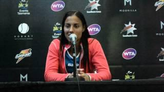 Estrella Cabeza Candela Press Conference - Hobart International 2014