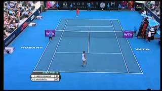 Estrella Cabeza Candella v Garbine Muguruza Hobart International Tennis 2014 - Match Highlights