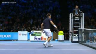 Federer vs Ferrer - London 2011 Semifinal Full Match HD !!!
