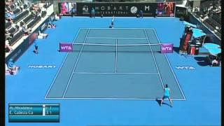 Monica Niculescu vs Estrella Cabez Candela, Hobart International 2014 - Full Match