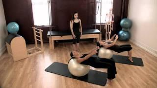 Upside-Down Pilates - Exercise Ball - Lesson 53 - Part 1 Of 4 - HD