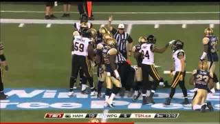 CFL 2014 Week 14 Hamilton TiCats at Winnipeg Blue Bombers TSN Sucks Game