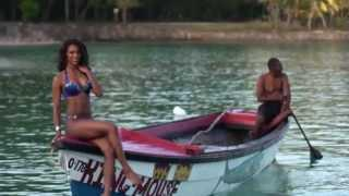 Baltimore Ravens 2013 cheerleader calendar photo shoot in Orocabessa Bay, Jamaica