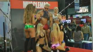 Photo Shoot at  Musclemag  Booth - Arnold Sports Expo 2012