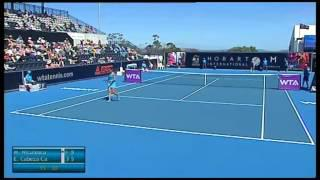 Monica Niculescu vs Estrella Cabez Candella - Hobart International 2014 - Match Highlights