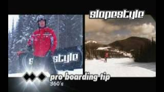 Slopestyle - Pro Snowboarding Tip #5 - 360 Spin