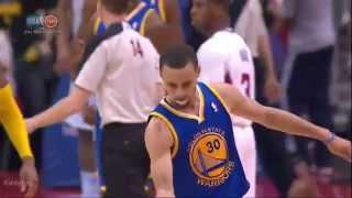 Stephen Curry sick 4 point play vs Clippers (2014 NBA Playoffs GM7)